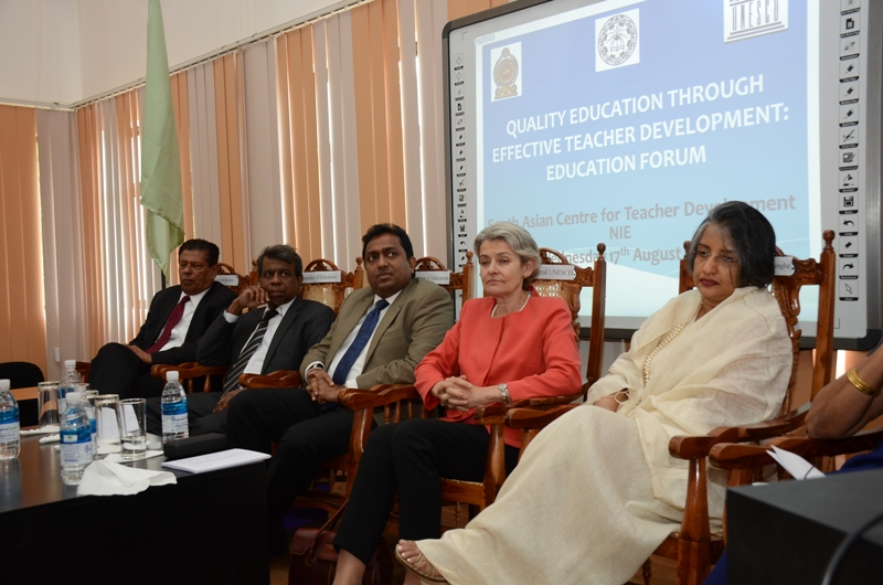 Speaking at the Education and Science sector forum.jpg